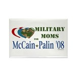 Military Moms for McCain Palin Rectangle Magnet (1