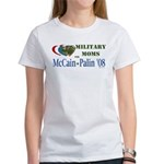 Military Moms for McCain Palin Women's T-Shirt
