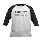Military Moms for McCain Palin Kids Baseball Jerse