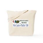 Military Moms for McCain Palin Tote Bag