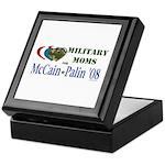 Military Moms for McCain Palin Keepsake Box