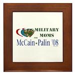 Military Moms for McCain Palin Framed Tile