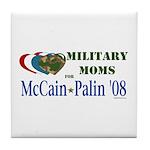 Military Moms for McCain Palin Tile Coaster