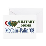 Military Moms for McCain Palin Greeting Cards (Pk