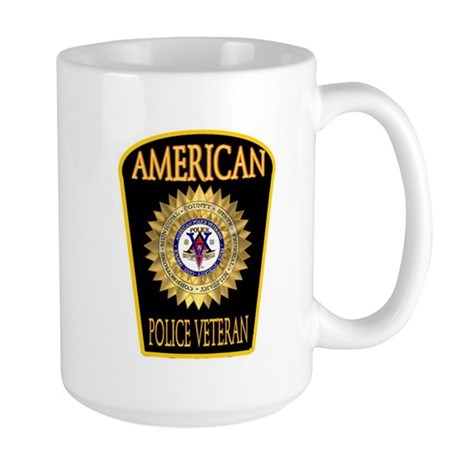American Police Veterans Patc Large Mug