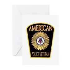 American Police Veterans Patc Greeting Cards (Pack