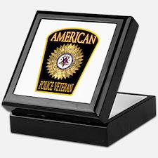 American Police Veterans Patc Keepsake Box