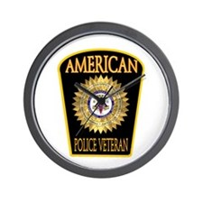 American Police Veterans Patc Wall Clock