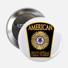American Police Veterans Patc Button