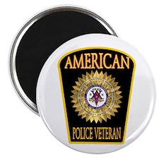 American Police Veterans Patc Magnet