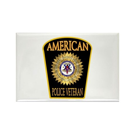 American Police Veterans Patc Rectangle Magnet