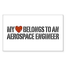 My Heart Belongs to an Aerospace Engineer Decal