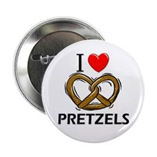 "I Love Pretzels 2.25"" Button (10 pack)"