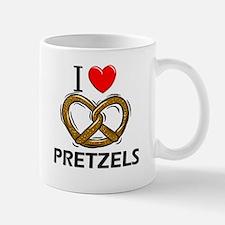I Love Pretzels Mug
