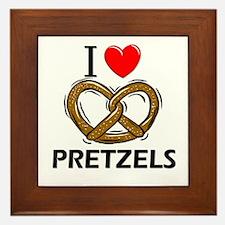 I Love Pretzels Framed Tile