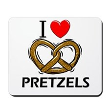 I Love Pretzels Mousepad