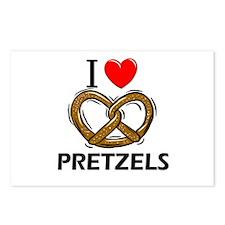 I Love Pretzels Postcards (Package of 8)