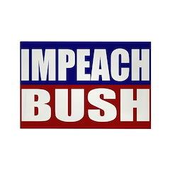 Impeach Bush Rectangle Magnet