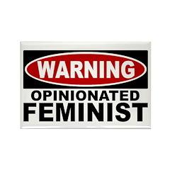 Warning: Opinionated Feminist (Magnet)