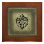 Decorative Wreath Motif Framed Tile