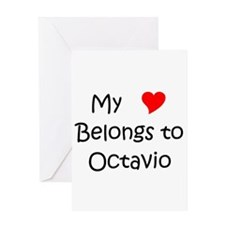 Cute My heart belongs octavio Greeting Card