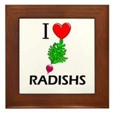 I Love Radishs Framed Tile