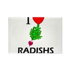 I Love Radishs Rectangle Magnet
