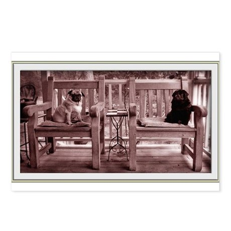 Rocking Chair Pugs Postcards (Package of 8)