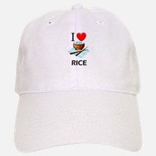 I Love Rice Baseball Baseball Cap
