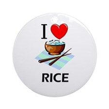 I Love Rice Ornament (Round)