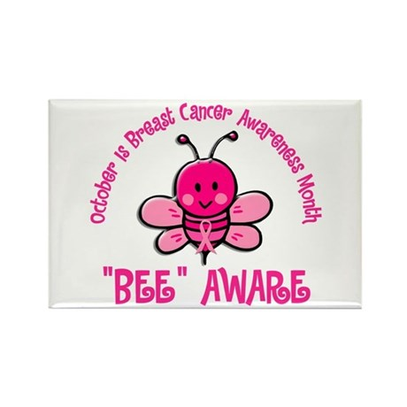 Breast Cancer Awareness Month 4.2 Rectangle Magnet