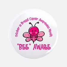 "Breast Cancer Awareness Month 4.2 3.5"" Button"