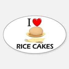 I Love Rice Cakes Oval Decal