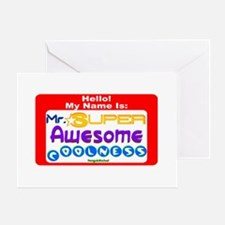 Mr. Super Awesome Greeting Card