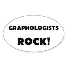 Graphologists ROCK Oval Decal