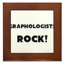 Graphologists ROCK Framed Tile