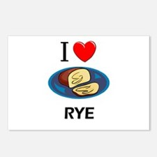 I Love Rye Postcards (Package of 8)