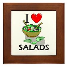 I Love Salads Framed Tile