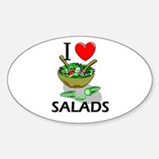 I Love Salads Oval Decal