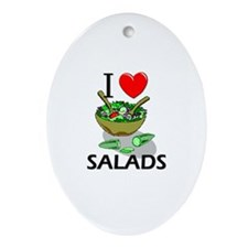 I Love Salads Oval Ornament