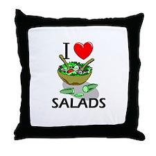 I Love Salads Throw Pillow