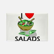 I Love Salads Rectangle Magnet