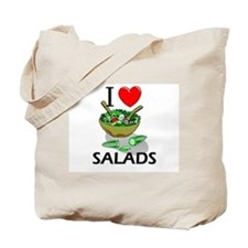 I Love Salads Tote Bag