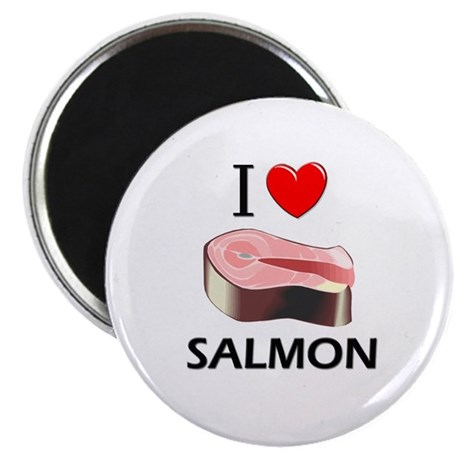 "I Love Salmon 2.25"" Magnet (10 pack)"