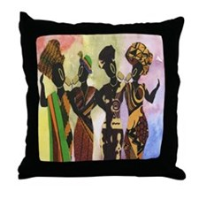 African Singers Throw Pillow