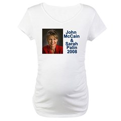 Sarah Palin Picture McCain Palin 08 Maternity T-Sh