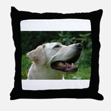 Funny Yellow lab photography Throw Pillow