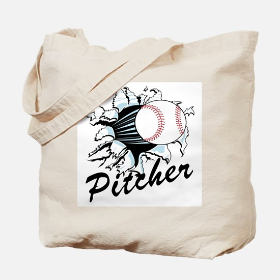 Fast ball Pitcher Tote Bag