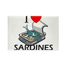 I Love Sardines Rectangle Magnet