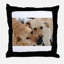 Cute Yellow lab photography Throw Pillow